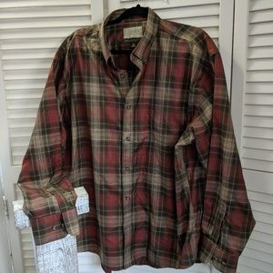 Cabela's Plaid Long Sleeve Shirt